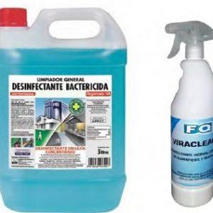 Productos de desinfección de limpieza